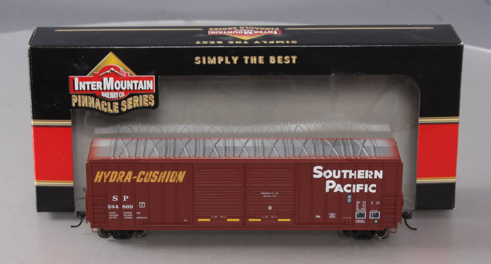 InterMountain 48301-01 HO Scale Southern Pacific Double Door Boxcar LN/Box 844201043264 InterMountain 48301-01