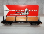 American Flyer 24516 New Haven Flat car w/ Lumber Load S scale 1950s original NH