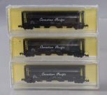 CSM 7101-3 N Scale Canadian Pacific Cylindrical Grain Hopper (Pack of 3) MT/Box