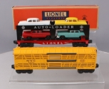 Lionel 6414 Evans Auto-Loader w/4 Cars & 6356 New York Central Bi-Level Stock Ca