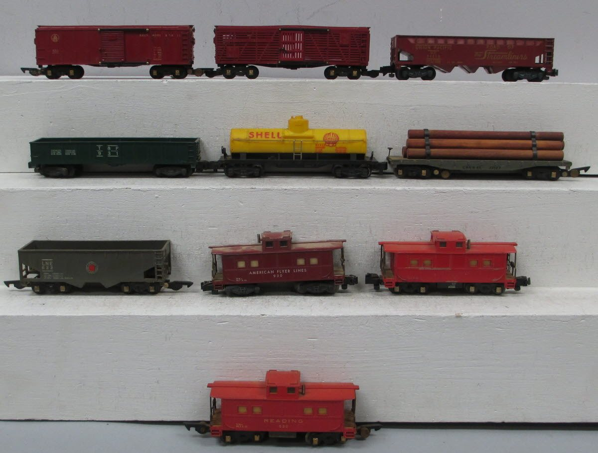Buy American Flyer S Gauge Assorted Freight Cars (10) | Trainz Auctions
