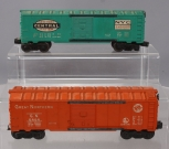 Lionel 6464-900 New York Central Boxcar- Type IV & 6464-25 Great Northern Boxcar