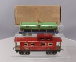 American Flyer O Scale Prewar 3211 Red Caboose & 410 Tank Car [2]