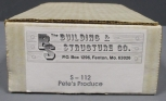 The Building & Structure S-112 S Scale Pete's Produce Building Kit LN/Box