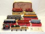 CLEAN 1957 American Flyer 20325 Union Pacific Diesel Freight BOXED SET UP GP-7 S