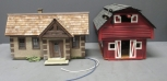 G Scale Custom Handcrafted Wood Ranch House and Barn w/ Lights