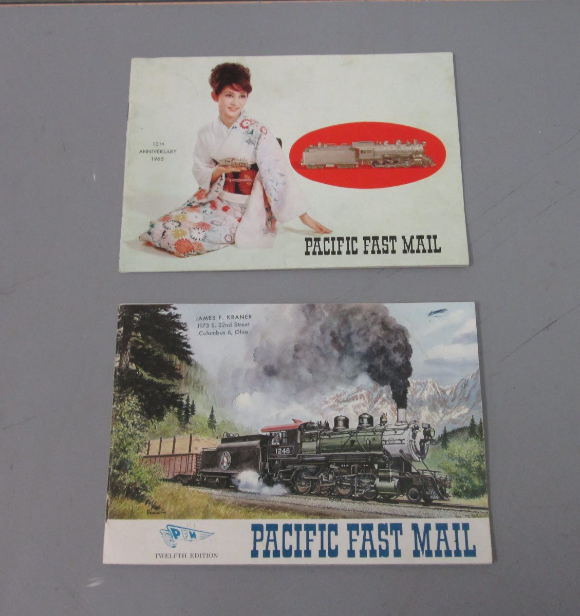 Buy Pacific Fast Mail Vintage BRASS Locomotive Catalogs (4
