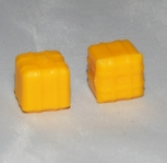 American Flyer HAY BALE yellow lot of TWO Parts unused S & HO gauge for Ejector