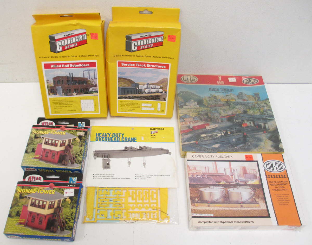 Buy Atlas, Con-Cor & Walthers N Scale Building Kits (7)/Box