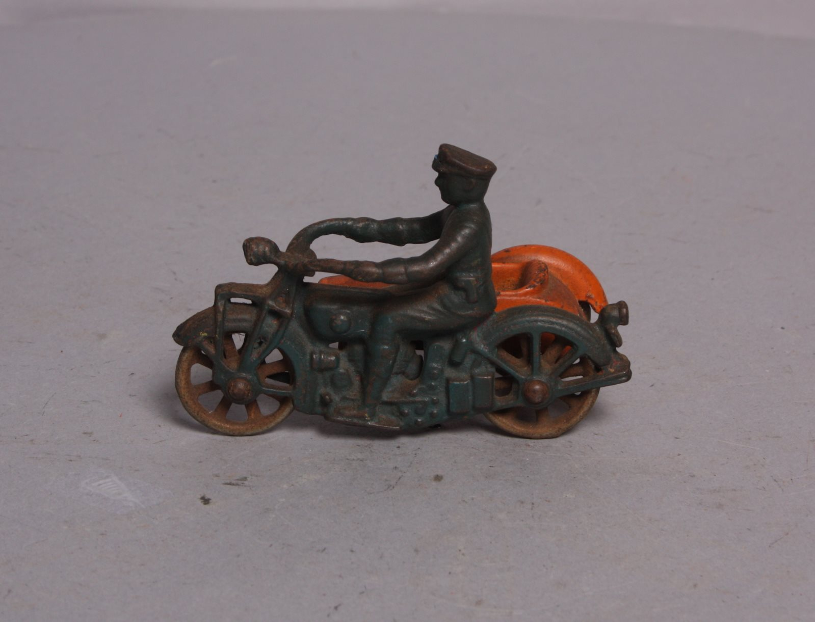 Buy Vintage Cast Iron Motorcycle with Side Car | Trainz Auctions