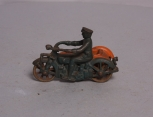 Vintage Cast Iron Motorcycle with Side Car