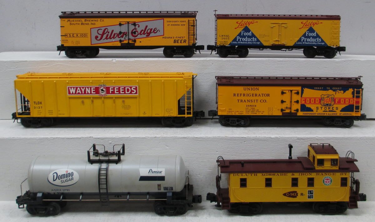 Buy Assorted O Modern Food Freight Cars (6) - 3 Rail | Trainz Auctions