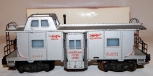 American Flyer 24633 Silver Deluxe Bay Window Illuminated caboose Red print Knuc