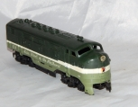 AC Gilbert HO Scale #424 Northern Pacific F7 A Unit Diesel NP dmmy 1957-58 31012
