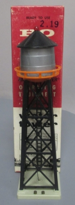 American Flyer 35206 HO Water Tower with Blinking Red Warning Light/Box