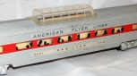 American Flyer 962 Hamilton RED Stripe VIsta Dome Passenger Car for Santa Fe set