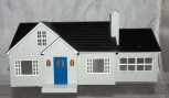 Lionel 6-34123 Bungalow w/ Addition O gauge lighted House Lionelville Gray HTF