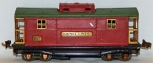 Lionel prewar 817 Red & Peacock Green lighted Caboose BIG O Brass 1933 tinplate