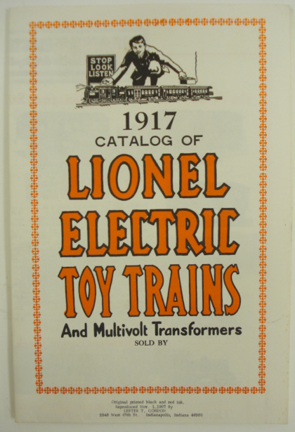 Buy Lionel 1917 Reproduction Consumer Train Catalog MT