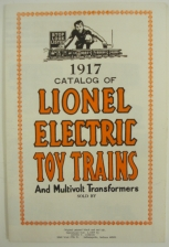Lionel 1917 Reproduction Consumer Train Catalog MT