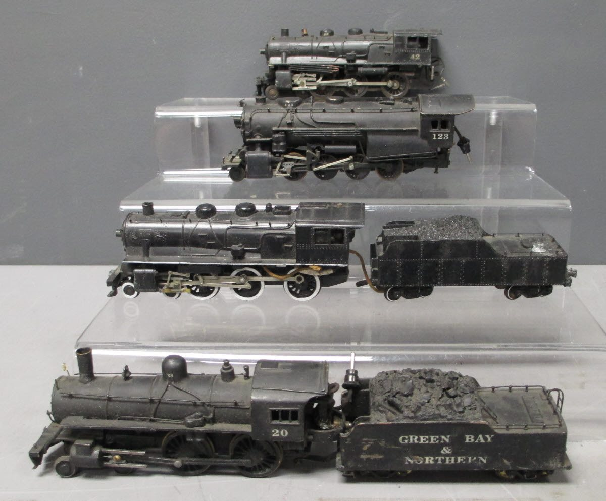 Buy Vintage HO Scale Steam Locomotives (4) | Trainz Auctions
