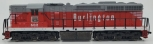 Atlas 7504 HO Scale Burlington Route EMD SD24 Powered Diesel #502 EX