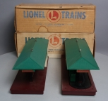 Lionel 257 Freight Station w/ Diesel Horn & 356 Operating Freight Station/Box