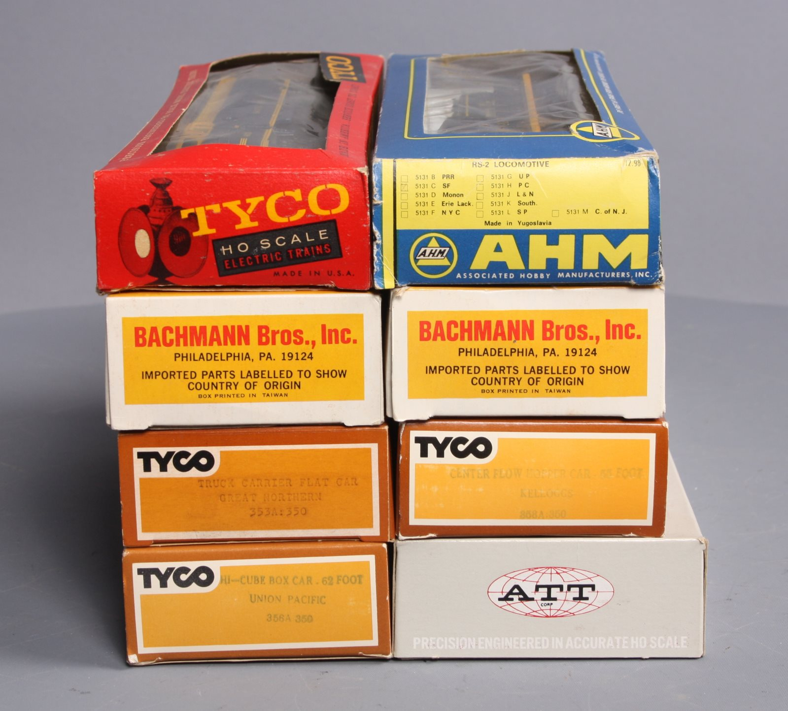 Buy Tyco, ATT, AHM HO Assorted Freight Cars & Diesels [8