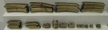 Marklin HO Scale M Track, Assorted Straight and Curved Pieces [50+]