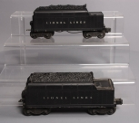 Lionel 6466W Lionel Lines Operating Whistle Tender & 6466WX Operating Whistling