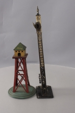 Bing Vintage O & Standard Gauge Tinplate Accessories: Semaphore & Switch Tower [