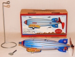 Schylling TIN Los Angeles Zeppelin wind up with stand NEW in box retro toy metal
