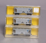 Deluxe Innovations 7130 N Scale D&H 4-Bay Covered Hopper (Pack of 3) NIB
