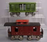 Lionel 117 NYC&HRRR Caboose & 13 Standard Gauge Early Cattle Car
