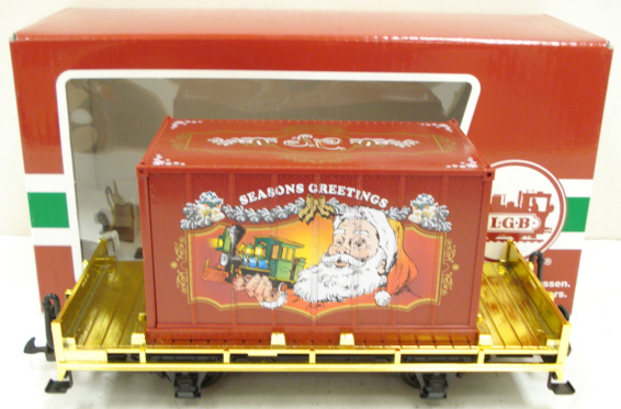 LGB 44030 Seasons Greetings Flatcar w/ Container LN/Box  LGB 44030