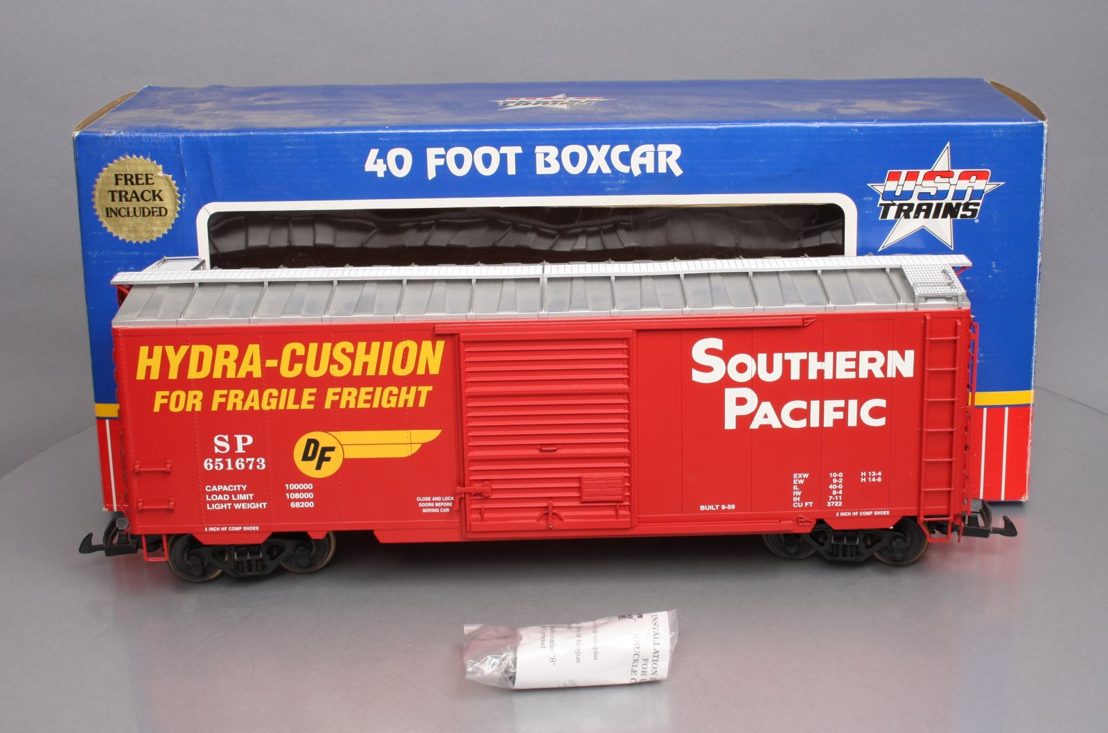 USA Trains R19202A G Southern Pacific 40 Ft. PS-1 Simulated Steel Box Car (Metal  USA Trains R19202A