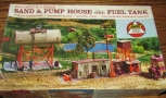 AHM 5853-398 HO Sand & Pump House with Fuel Tank Building Kit LN/Box