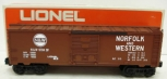 Lionel 6-9704 Norfolk and Western Tuscan Boxcar LN/Box