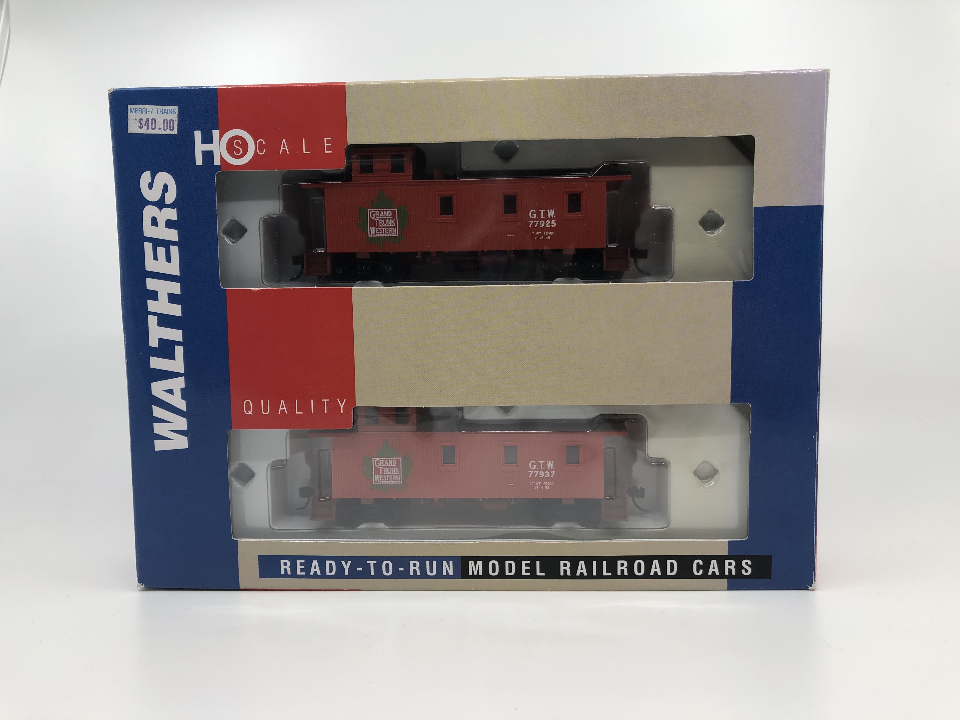 Walthers 932-27501 HO Grand Trunk Western 30' Wood Caboose (Pack of 2) NIB 616374023370 Walthers 932-27501