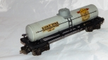 Prewar Lionel SUNOCO SUNX 2755 Metal Oil Tank Car GRAY Decals Semi Scale 1942 O