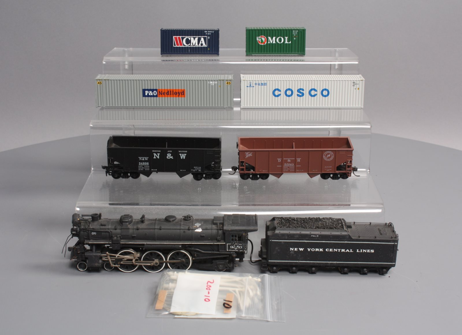 Buy HO Scale Steam Loco, Freight Cars, Containers & Lights