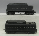 Lionel 233W Whistling Tender & 671W Lionel Lines Whistle Tender w/Handrails