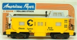 American Flyer 4-9400 S Scale Chessie System Caboose LN/Box