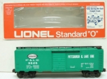 Lionel 6-9826 New York Central Pittsburgh & Lake Erie Boxcar LN/Box