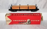 Neat American Flyer 928 New Haven Lumber Flat car in Original BOX marked 24515