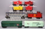 Lionel O Gauge Assorted Modern & MPC Freight Cars (8)
