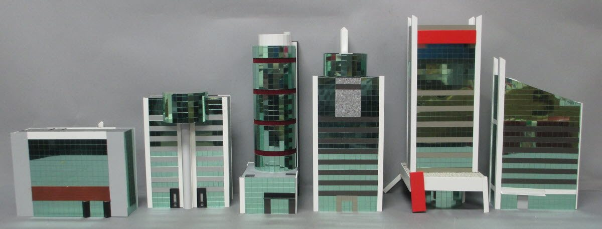 Buy Built Up N Scale MIRRORED City Buildings [6] | Trainz Auctions