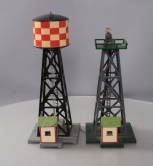 American Flyer 772 Checkerboard Water Tower w/Bubble Tube & 769 Aircraft Beacon