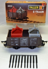 Vintage Faller E-Train 3634 Open Freight Car BOXED Wst Germany 2RAIL O Playtrain