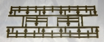 Lionel Trains Part 4 piece OLIVE DRAB GREEN FENCE Set for your flat car Army NOS